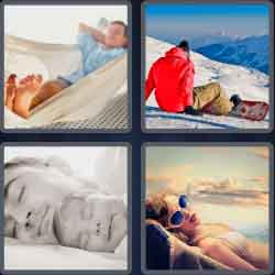 4 Pics 1 Word 4 Letters Rest
