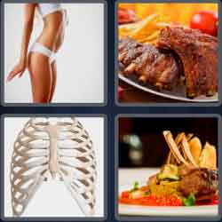 4 Pics 1 Word 4 Letters Ribs