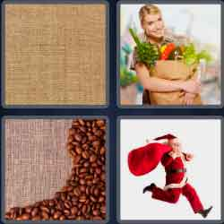 4 Pics 1 Word 4 Letters Sack
