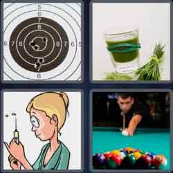 4 Pics 1 Word 4 Letters Shot