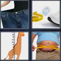 4 Pics 1 Word 4 Letters Size