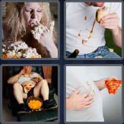 4 Pics 1 Word 4 Letters Slob