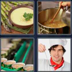 4 Pics 1 Word 4 Letters Soup