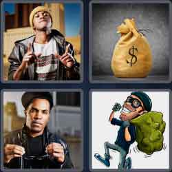 4 Pics 1 Word 4 Letters Swag