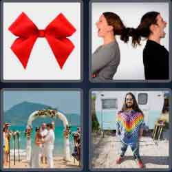 4 Pics 1 Word 4 Letters Tied