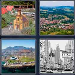 4 Pics 1 Word 4 Letters Town