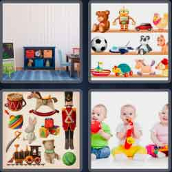 4 Pics 1 Word 4 Letters Toys