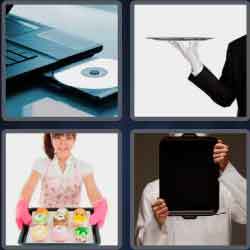 4 Pics 1 Word 4 Letters Tray