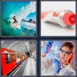 4 Pics 1 Word 4 Letters Tube