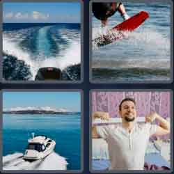 4 Pics 1 Word 4 Letters Wake