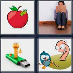 4 Pics 1 Word 4 Letters Worm
