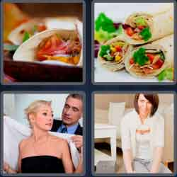 4 Pics 1 Word 4 Letters Wrap