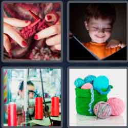 4 Pics 1 Word 4 Letters Yarn