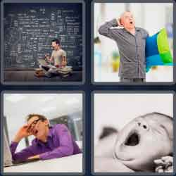 4 Pics 1 Word 4 Letters Yawn