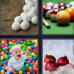 4 Pics 1 Word 5 Letters Balls