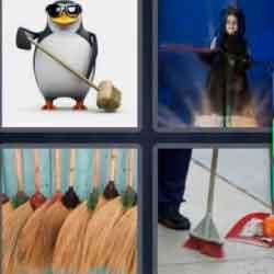 4 Pics 1 Word 5 Letters Broom