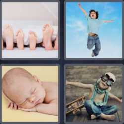 4 Pics 1 Word 5 Letters Child