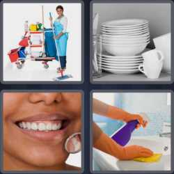 4 Pics 1 Word 5 Letters Clean