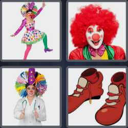 4-pics-1-word-5-letters-clown