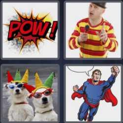 4 Pics 1 Word 5 Letters Comic