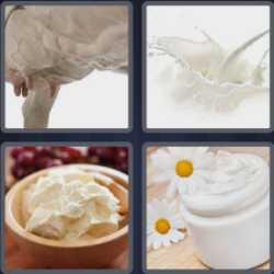 4 Pics 1 Word 5 Letters Cream