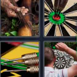 4 Pics 1 Word 5 Letters Darts