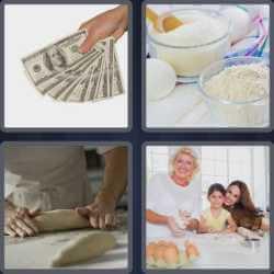 4 Pics 1 Word 5 Letters Dough