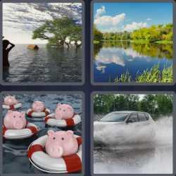 4 Pics 1 Word 5 Letters Flood