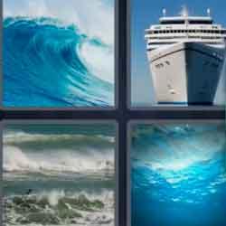 4 Pics 1 Word 5 Letters Ocean