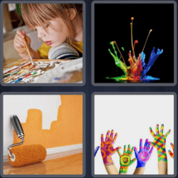 4 Pics 1 Word 5 Letters Paint