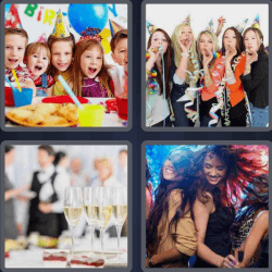 4 Pics 1 Word 5 Letters Party