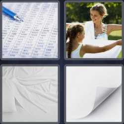 4 Pics 1 Word 5 Letters Sheet