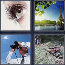 4 Pics 1 Word 5 Letters Sight
