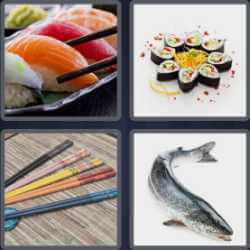 4-pics-1-word-5-letters-sushi