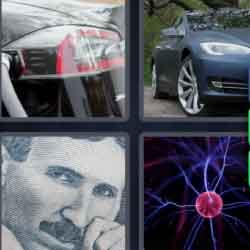 4 Pics 1 Word 5 Letters Tesla