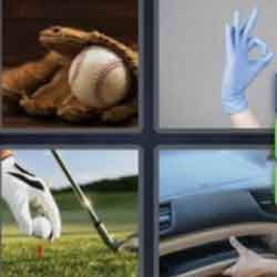 4 Pics 1 Word 5 Letters Glove