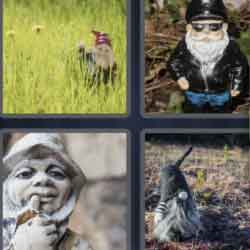 4 Pics 1 Word 5 Letters Gnome