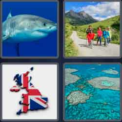 4 Pics 1 Word 5 Letters Great