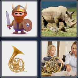 4 Pics 1 Word 5 Letters Horns