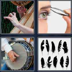 4 Pics 1 Word 5 Letters Level 3706 Pluck