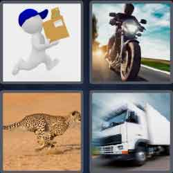 4 pics 1 word 5 letters white truck