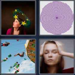 4 pics 1 word 5 letters woman with hands on head