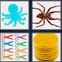4 pics 1 word 5 letters blue octopus