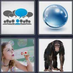 4 Pics 1 Word 6 Letters Bubble