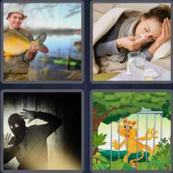 4 Pics 1 Word 6 Letters Caught
