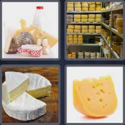 4 Pics 1 Word 6 Letters Cheese