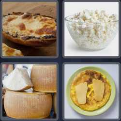 4 Pics 1 Word 6 Letters Cheesy
