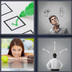 4 Pics 1 Word 6 Letters Choice