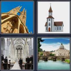 4 Pics 1 Word 6 Letters Church