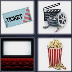 4 Pics 1 Word 6 Letters Cinema